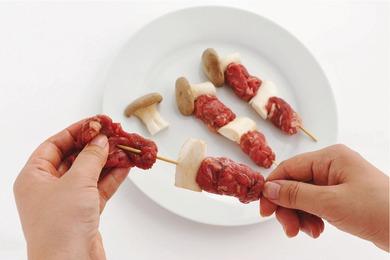 牛肉とエリンギ串