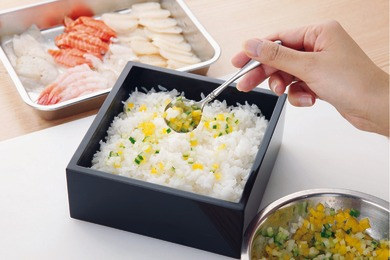 お花畑のおもてなしちらし寿司