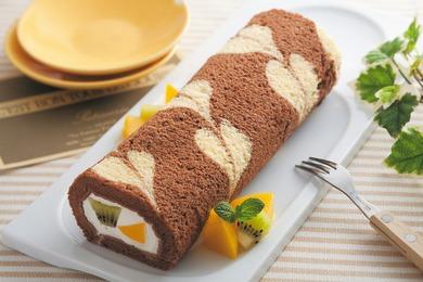 ラブリーハートのチョコロールケーキ