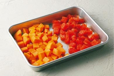 柿とトマトのマリネサラダ
