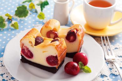 アメリカンチェリーのチーズケーキ