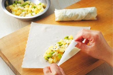 枝豆とチーズの春巻き