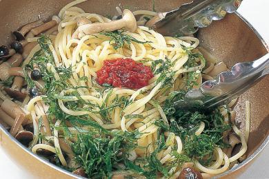 きのこと大葉のスパゲッティ
