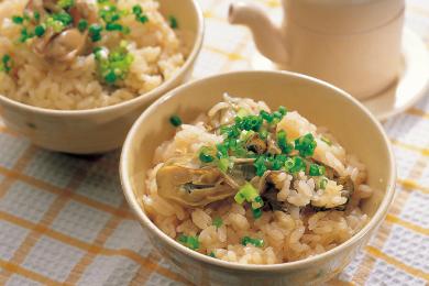 かきの炊き込みご飯