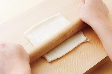 明太子とお餅の簡単薄焼きピッツァ