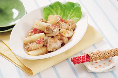 鶏肉のさっぱり煮 梅にんにく風味