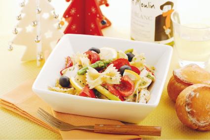 クリスマスオードブル…カジキマグロのファルファッレサラダ
