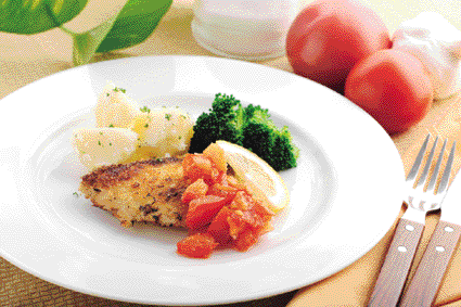 ぶりフライのトマトソース