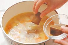 ハート型ご飯のカレー